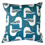 Seagull Design Cushion: Pool Blue