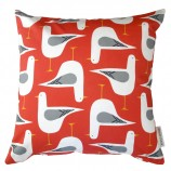 Seagull Design Cushion: Coral