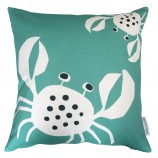Crab Design Cushion: Sea Green