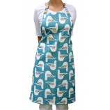 Seagull Design Apron: Pool Blue