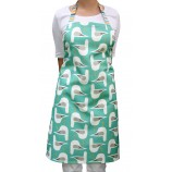 Seagull Design Apron: Sea Green