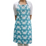 Crab Design Apron: Pool Blue