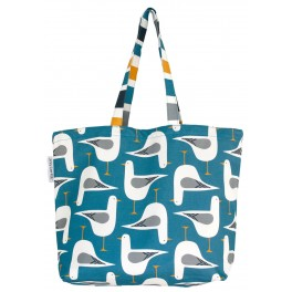 Seagull Tote Bag: Blue