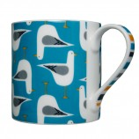 Seagull Design Fine Bone China Mug: Blue