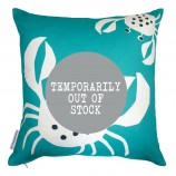 Crab Design Cushion: Turquoise