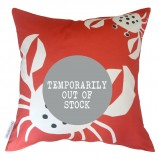 Crab Design Cushion: Coral