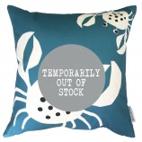 Crab Design Cushion: Pool Blue